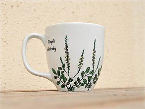 Nádoby - Maľovaný porcelánový hrnček - Bylinky (Repík lekársky) - 9413347_