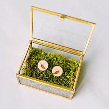 Šperky - lístky - manžetové gombíky - 9414822_