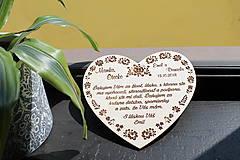 Dekorácie - Poďakovanie rodičom - folk - 9414653_