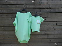 Tuniky - Tunika - žiarivá mint zelená - 9414794_