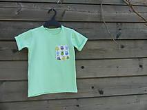 Detské oblečenie - Tričko - žiarivá mint s príšerkami - 9414938_