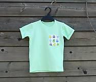 Detské oblečenie - Tričko - žiarivá mint s príšerkami - 9414957_