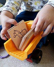 """Hračky - Vypalované drevené kartičky pre deti """"Dedove obrázky"""" - 9413439_"""