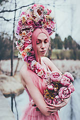 Ozdoby do vlasov - Koruna z kvetin