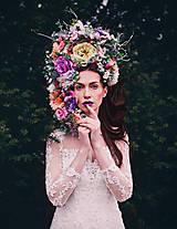 Ozdoby do vlasov - Lúčna rozprávková kvetinová koruna - 9413619_