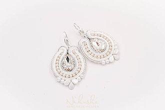 Sady šperkov - Svadobná soutache sada (náušnice) - 9414154_