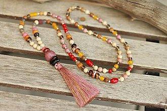 Náhrdelníky - Mala náhrdelník z minerálov mix - 9412975_