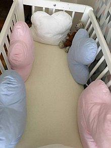 Textil - Mantinel do postieľky Obláčiky - 9416140_