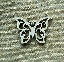 Polotovary - Výrez z preglejky - motýľ - 7 cm - 9417634_