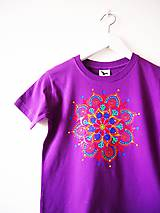 Detské oblečenie - Detské fialové tričko s mandalkou - 8r. - 9415721_