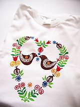 Detské oblečenie - Detské biele folk tričko - 8 a 10r. (8 rokov, výška 134 cm) - 9416220_