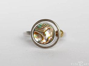Prstene - Strieborný prsteň s perleťou Paua - Galaxia - 9415842_