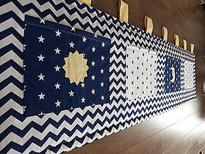 Úžitkový textil - Zástena za posteľ ...Nočná obloha 200 x 50 cm - 9417342_