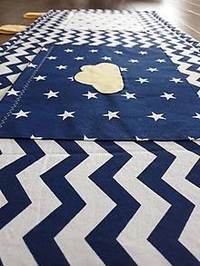 Úžitkový textil - Zástena za posteľ ... Nočná obloha 120  x 50 cm - 9417368_