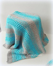 Textil - Pletená deka pre bábätko - 9418870_