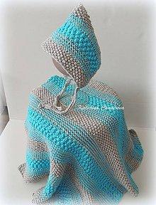 Textil - Pletená deka s čepčekom - 9418886_