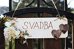 Tabuľky - Svadobná tabuľka - 9416953_