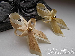 Pierka - Svadobné pierka v zlatom odtieni - 9417898_