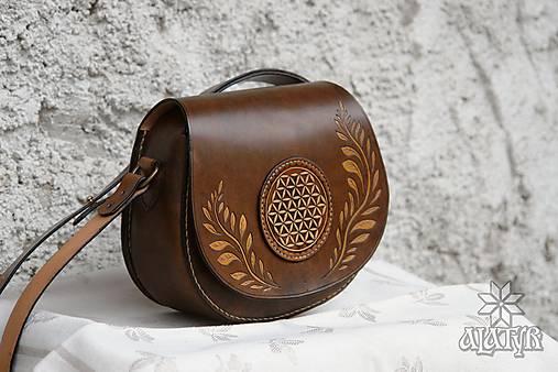 Kožená kabelka Radomíra - Kvet Života