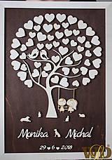 Obrazy - Svadobný strom  50 hostí - 9416313_