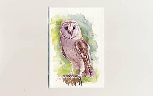 Ručne maľovaná pohľadnica - Plamienka