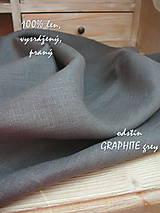 Textil - 100% len metráž, 190g/m2...odstín GRAPHITE grey - 9416513_