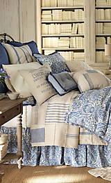 Textil - 100% len metráž, 190g/m2...odstín FRENCH blue - 9416529_