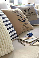Textil - 100% len metráž, 190g/m2...odstín FRENCH blue - 9416530_