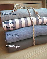 Textil - 100% len metráž, 190g/m2...odstín FRENCH blue - 9416532_