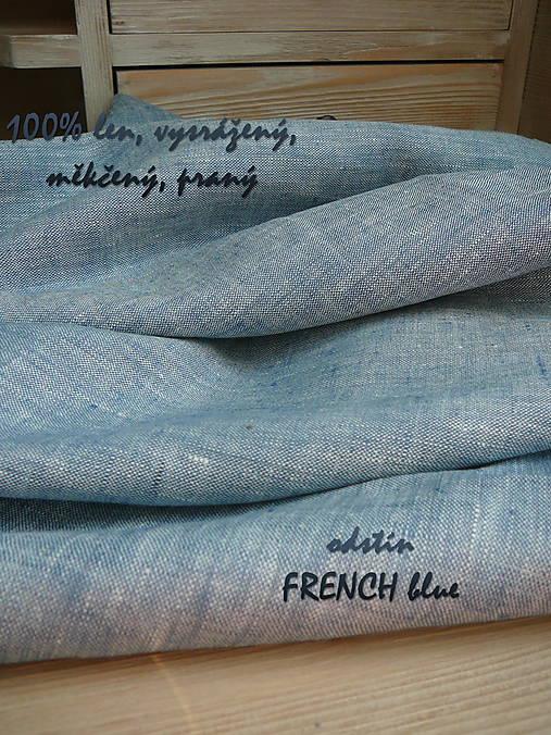 100% len metráž, 190g/m2...odstín FRENCH blue