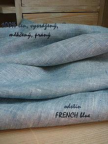 Textil - 100% len metráž, 190g/m2...odstín FRENCH blue - 9416531_