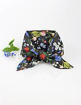 """Šatky - Elegantná čierna kvetinová šatka pre pôvabné dámy """"Garden"""" - 9415725_"""