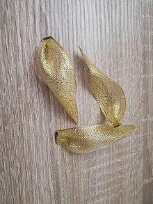 Materiál ručne robený - Zlaté lístky - 9415507_