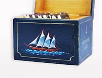 Krabičky - Krabička na čaj s plachetnicou Mayflower, 1620 - 9417004_