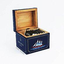 Krabičky - Krabička na čaj s plachetnicou Mayflower, 1620 - 9417051_