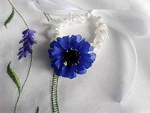 Náramky - kvetinovo-perlový náramok - 9416173_