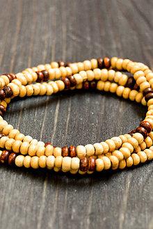 Náramky - Wooden bracelet - 9415694_