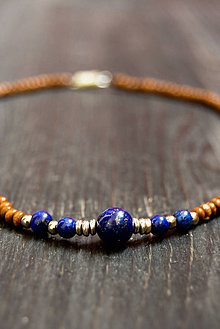 Náhrdelníky - Bohemian... Spirit... #14... lapis lazuli - 9416835_