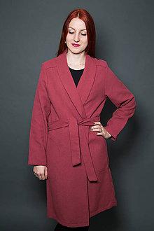 Kabáty - Koralovo-červený kabát - 9417605_