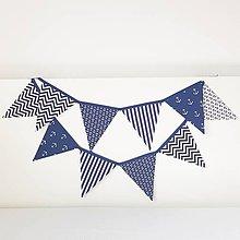 Detské doplnky - vlajková Girlanda modrý námornik - 9417810_