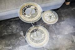 Nábytok - Kovový stôl Chopper art - 9417556_