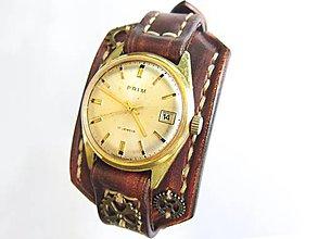 Náramky - Kožený remienok na starožitné hodinky Prim II - 9418832_