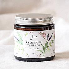 Svietidlá a sviečky - Bylinková záhrada - Levanduľa, Materina dúška a Šalvia - sójová sviečka Jemnô - 9417373_