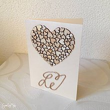 Papiernictvo - Srdiečkový telegram - doplnok k srdiečkovému srdcu (Maslový perleťový) - 9415333_