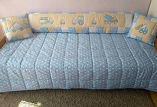 Úžitkový textil - modrobéžový prehoz - 9416493_