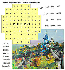 Grafika - Osemsmerovka pre dedka s banskoštiavnickými výrazmi - 9418677_
