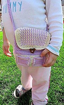 Detské tašky - Háčkovaná detská kabelka (Fialová) - 9416764_
