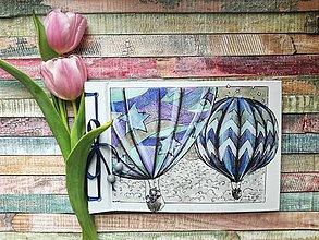 Papiernictvo - Fotoalbum klasický s ilustráciou ,,Na výlete balónom,, (dočasne nedostupné) - 9416839_