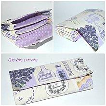 Peňaženky - Peňaženka levanduľa - 9418510_