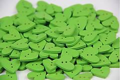 G121 Gombík srdiečko (zelené)